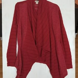 Lucky brand open front knit cardigan size small